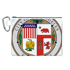 City Of Los Angeles Seal Canvas Cosmetic Bag (L) by abbeyz71