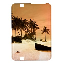 Wonderful Sunset Over The Beach, Tropcal Island Kindle Fire Hd 8 9  by FantasyWorld7