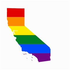 Lgbt Flag Map Of California Small Garden Flag (Two Sides) by abbeyz71