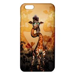 Funny, Cute Giraffe With Sunglasses And Flowers Iphone 6 Plus/6s Plus Tpu Case by FantasyWorld7