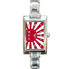 Ensign Of The Imperial Japanese Navy And The Japan Maritime Self Defense Force Rectangle Italian Charm Watch by abbeyz71