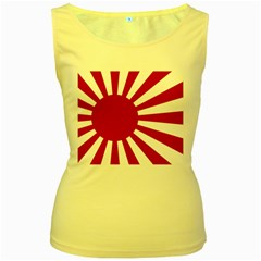 Ensign Of The Imperial Japanese Navy And The Japan Maritime Self Defense Force Women s Yellow Tank Top by abbeyz71