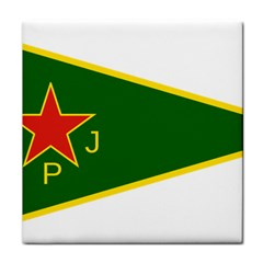 Flag Of The Women s Protection Units Tile Coasters by abbeyz71