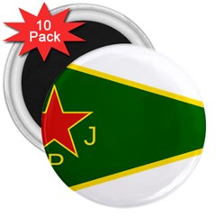 Flag Of The Women s Protection Units 3  Magnets (10 Pack)  by abbeyz71