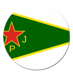 Flag Of The Women s Protection Units Magnet 5  (round) by abbeyz71