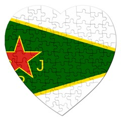 Flag Of The Women s Protection Units Jigsaw Puzzle (heart) by abbeyz71