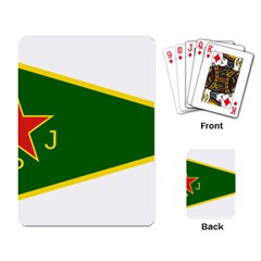 Flag Of The Women s Protection Units Playing Card by abbeyz71