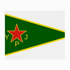 Flag Of The Women s Protection Units Small Glasses Cloth (2 Side) by abbeyz71