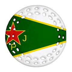 Flag Of The Women s Protection Units Round Filigree Ornament (2side) by abbeyz71