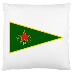 Flag Of The Women s Protection Units Large Flano Cushion Case (one Side) by abbeyz71