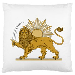 National Emblem Of Iran, Provisional Government Of Iran, 1979 1980 Standard Flano Cushion Case (Two Sides) by abbeyz71