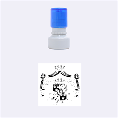 Greater Coat Of Arms Of Sweden  Rubber Round Stamps (Small) by abbeyz71