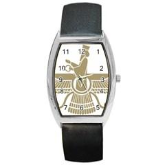 Stylized Faravahar  Barrel Style Metal Watch by abbeyz71