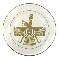 Stylized Faravahar  Porcelain Plates by abbeyz71