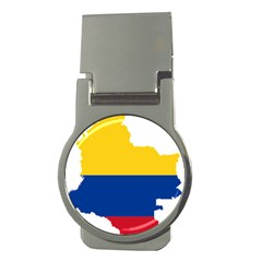 Flag Map Of Colombia Money Clips (Round)  by abbeyz71