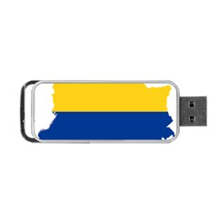 Flag Map Of Colombia Portable Usb Flash (two Sides) by abbeyz71