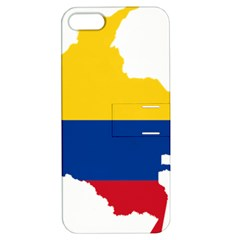 Flag Map Of Colombia Apple Iphone 5 Hardshell Case With Stand by abbeyz71