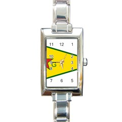 Flag Of The People s Protection Units Rectangle Italian Charm Watch by abbeyz71