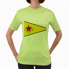 Flag Of The People s Protection Units Women s Green T Shirt by abbeyz71
