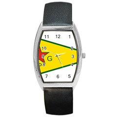 Flag Of The People s Protection Units Barrel Style Metal Watch by abbeyz71