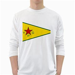 Flag Of The People s Protection Units White Long Sleeve T-Shirts by abbeyz71