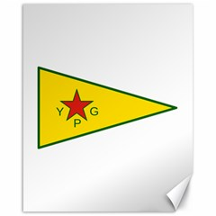Flag Of The People s Protection Units Canvas 16  X 20   by abbeyz71
