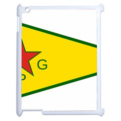 Flag Of The People s Protection Units Apple Ipad 2 Case (white) by abbeyz71