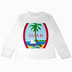 Seal Of Guam Kids Long Sleeve T-Shirts by abbeyz71