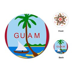 Seal Of Guam Playing Cards (Round)  by abbeyz71