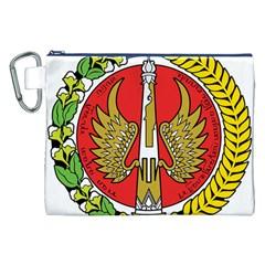 Seal Of Yogyakarta  Canvas Cosmetic Bag (xxl) by abbeyz71