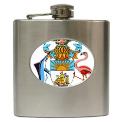 Coat of Arms of the Bahamas Hip Flask (6 oz) by abbeyz71