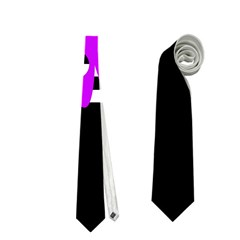 Purple abstraction Neckties (One Side)  by Valentinaart