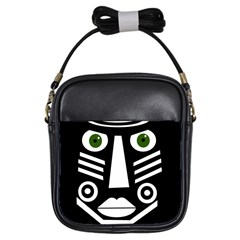Mask Girls Sling Bags by Valentinaart