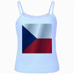 Flag Of Czech Republic Baby Blue Spaghetti Tank by artpics