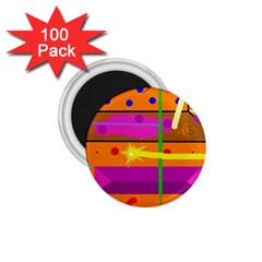 Orange Abstraction 1 75  Magnets (100 Pack)  by Valentinaart