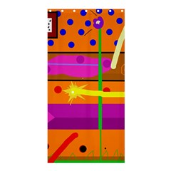 Orange abstraction Shower Curtain 36  x 72  (Stall)  by Valentinaart