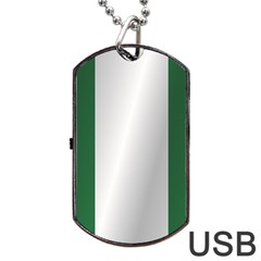 Flag Of Nigeria Dog Tag USB Flash (Two Sides)  by artpics