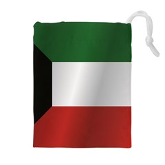 Flag Of Kuwait Drawstring Pouches (Extra Large) by artpics