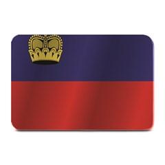 Flag Of Liechtenstein Plate Mats by artpics