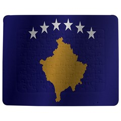 Flag Of Kosovo Jigsaw Puzzle Photo Stand (Rectangular) by artpics