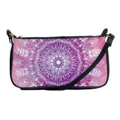 Pink Watercolour Mandala Shoulder Clutch Bags by TanyaDraws
