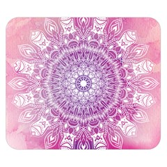 Pink Watercolour Mandala Double Sided Flano Blanket (small)  by TanyaDraws