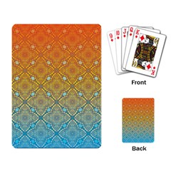 Ombre Fire And Water Pattern Playing Card by TanyaDraws