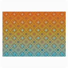 Ombre Fire And Water Pattern Large Glasses Cloth (2 Side) by TanyaDraws