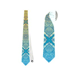 Ombre Fire And Water Pattern Neckties (two Side)  by TanyaDraws