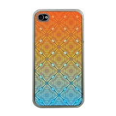 Ombre Fire And Water Pattern Apple Iphone 4 Case (clear) by TanyaDraws