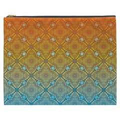 Ombre Fire And Water Pattern Cosmetic Bag (xxxl)  by TanyaDraws