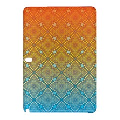 Ombre Fire And Water Pattern Samsung Galaxy Tab Pro 12 2 Hardshell Case by TanyaDraws