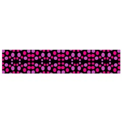 Dots Pattern Pink Flano Scarf (small) by BrightVibesDesign