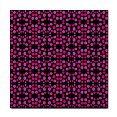 Dots Pattern Pink Face Towel by BrightVibesDesign
